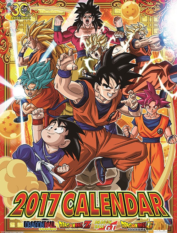 Calendario Dragon Ball Super 2017