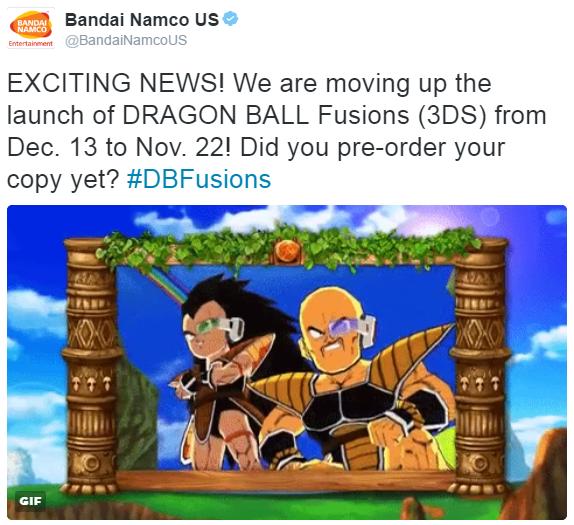 Dragon Ball Fusions adelanta su lanzamiento