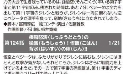 capítulo 123, 124 y 125 de Dragon Ball Super