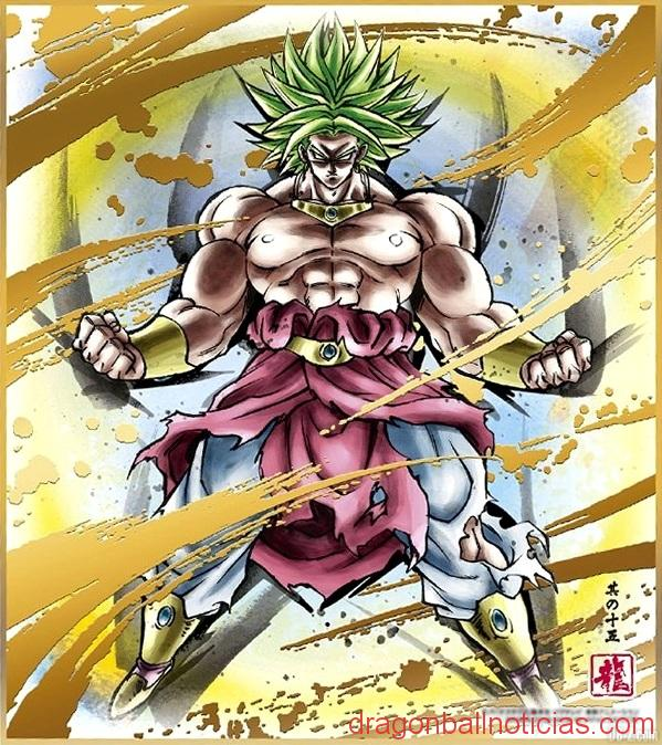 Dragon-Ball-Shikishi-Art-5-Broly-Super-Saiyan-Legendaire