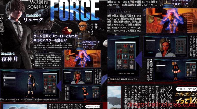 Jump Force Creación de personaje